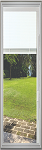 Universal 14 x 64 - Raise & Lower Blind Glass & White Frame